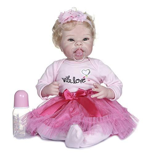 Joocyee 55Cm Muñeca Realista para bebés pequeños Realista Princesa Chica Jugar Juguete Regalo de cumpleaños, Simulación 55Cm Muñeca de Cuerpo de Tela, como se Muestra