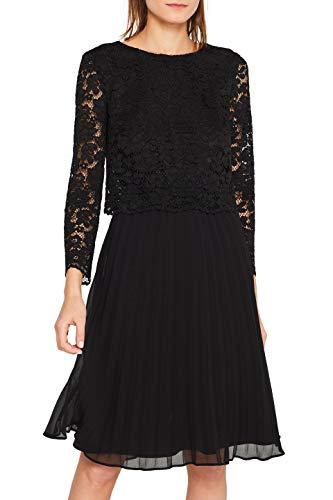 ESPRIT Collection Damen 109Eo1E003 Kleid, 001/BLACK, (Herstellergröße: 36)