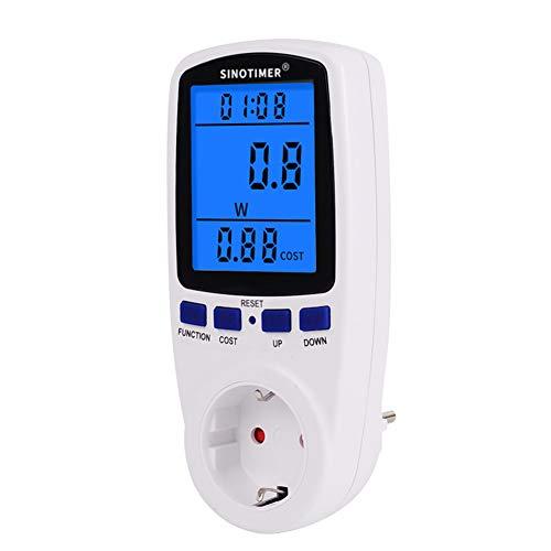 Domybest DDS108L Wattmètre Prise Compteur d énergie électrique Mètre Contrôleur de Consommation Electrique Compteur de Courant électrique avec Écran LCD Rétroéclairage Prise de Minuterie