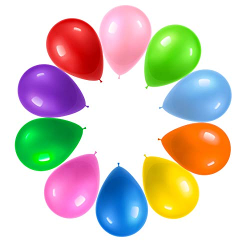 Prextex 125 Party Balloons 12 Inch 10 Assorted Rainbow...