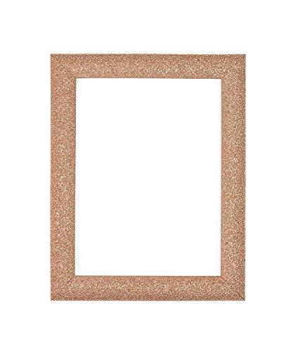 Memory Box Stardust foto/foto/poster frame - vormen 24mm breed en 12mm diep - met een hoge helderheid Styreen onbreekbaar Perspex plaat - Rose Gold kleur frame - maat A3 - Stardust-rosegld-a3