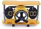 Reloj de Pared, hélice de Combate Modelo de avión alemán Avión Pasaje de página Retro Decoración Creativa Estilo Europeo Personalidad (Color: Dorado)