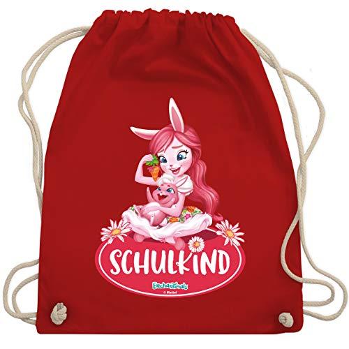 Shirtracer Enchantimals Tasche - Schulkind - Bree Bunny & Twist - Unisize - Rot - Geschenk - WM110 - Turnbeutel und Stoffbeutel aus Baumwolle