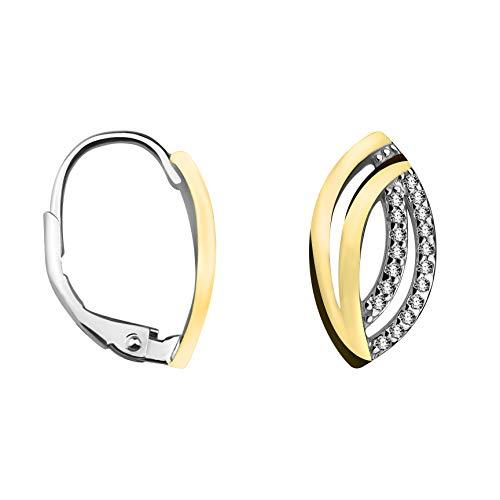 SOFIA MILANI - Damen Ohrringe 925 Silber - Creolen Bicolor Gold - 20539