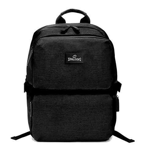 Spalding & Bros. A.G. Zaino Backpack Small Brooklyn Line Porta Pc fino a 14' Tasca Porta Tablet Unisex 29x36x19 cm 185624U-Nero