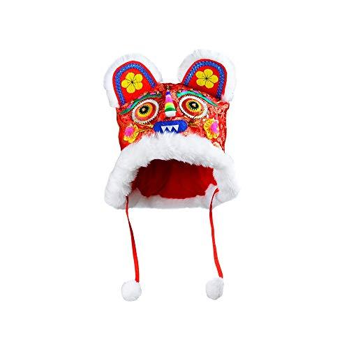 NXYJD PTUYZHYX Chinos características de Estilo Tradicional Pequeños Regalos Folk artesanías Hechas a Mano del Bordado de la Cabeza del Tigre niños del Sombrero del bebé