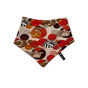 Dreieckstuch Waldleben Waschbären Waldtiere Herbstlich Rot Braun Baby Kleinkind Kind Jersey Lätzchen Schal Loop Tuch…