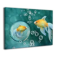 Skydoor J パネル ポスターフレーム 金魚 泡 インテリア アートフレーム 額 モダン 壁掛けポスタ アート 壁アート 壁掛け絵画 装飾画 かべ飾り 30×40