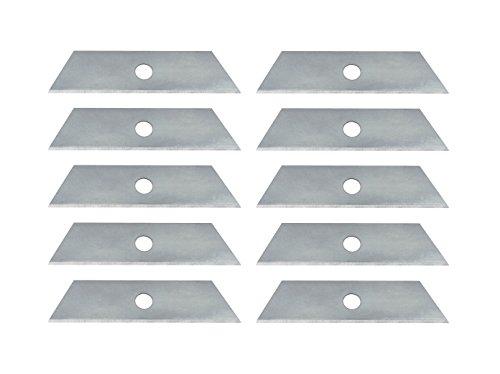 Wedo 7880 Ersatzklingen (für Safety Cutter Standard, Trapez Form, Carbonstahl, Kunststoffbox) 10 Stück, silber