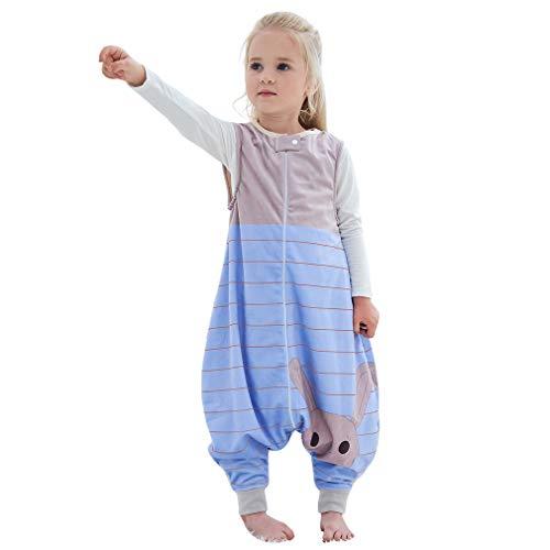MICHLEY baby schlafsack mit Füßen, mädchen und Junge Schlafstrampler Vierjahreszeiten, Sommerschlafsack mit Beinen, Braun 5-6 Jahre