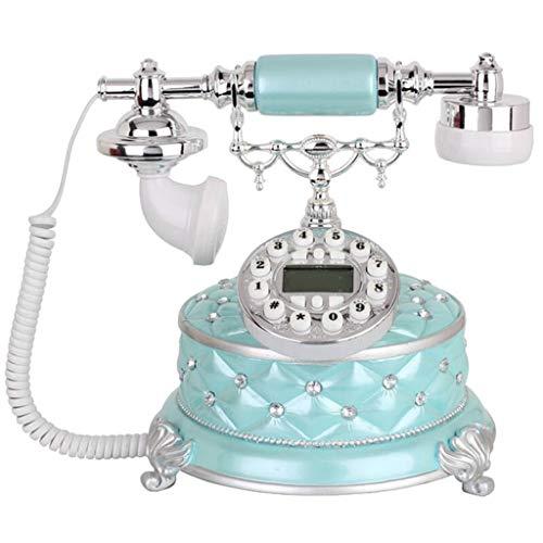 TeléFono Retro, TeléFono Antiguo Vintage, DecoracióN De Hogar De Oficina Fija De Resina + Metal