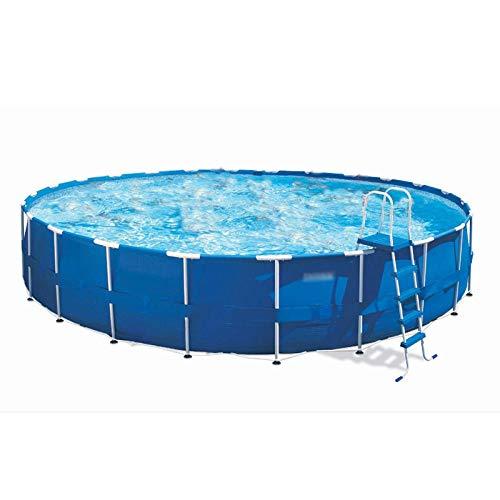 Topashe Aufblasbares Pool Komplettset,Runder Pool, großes Planschbecken - 457 * 122 cm, Sommerwasserparty Für Erwachsene