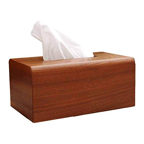 MYTYJ Ebony Solid Wood Rectangular Tissue Box, Household Living Room, Dining Room, Coffee Table Napkin Storage Box