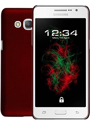 Coque Rigide gommée Rouge pour Samsung Galaxy Grand Prime Plus Cas de téléphone Coquille Housse de téléphone