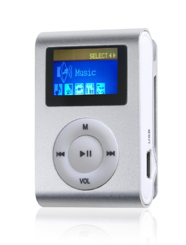 Difrnce Y548832 MP855 Clip MP4-Player (4GB, 2,8 cm (1,1 Zoll)) Silber