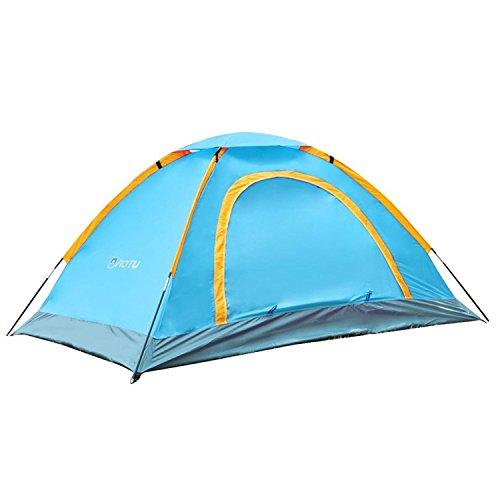 Gosear® Outdoor Beach Voyage Portable Folding 2 Personne Étanche Camping Tente Résistant Aux UV avec Sac de Transport Bleu