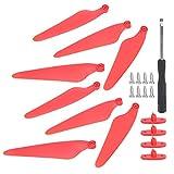 【𝐕𝐞𝐧𝐭𝐚 𝐑𝐞𝐠𝐚𝐥𝐨 𝐏𝐫𝐢𝐦𝐚𝒗𝐞𝐫𝐚】 Repuesto de hélice, 2 Pares de 8 Piezas de hélice de Drone de plástico Rojo/Verde, para H117S Hubsan RC Aircraft Accessories Zino/Zinoipro(Red)