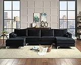 Sectional Sofa Sets Modern Elegant Velvet with Two Pillows,...