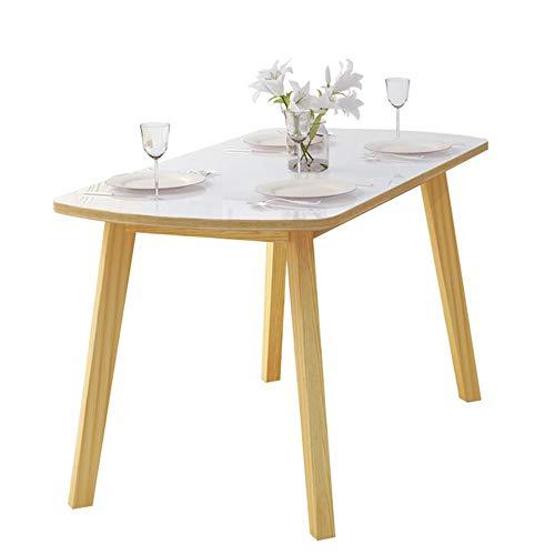 YNN Table Table à Manger en Bois Massif Ménage Nordique Simplicité Moderne Rectangle Blanc (Taille : 80cm)