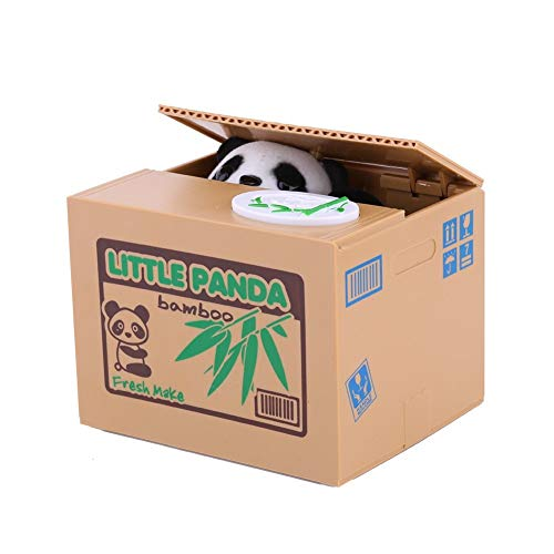 Justup Panda Spardose, süßer Panda Sparbüchse Diebstahl Sparbüchse Geld Sparen Geld Sammeln Sparschwein Geschenke Für Kinder