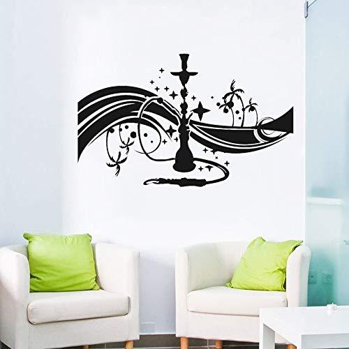 yaonuli Shisha Cafe Lounge Wandtattoo Schlafzimmer Arabian Glue Wandkunst Aufkleber Wohnzimmer Selbstklebende Wandtattoo63x39cm