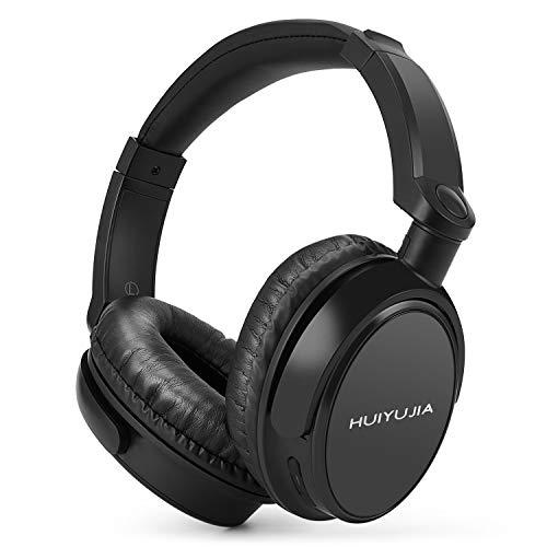 HUIYUJIA Bluetoothワイヤレスヘッドフォン オーバーイヤー メモリープロテイン素材のソフトなイヤーマフとオーディオケーブルが付属したマイク内蔵のHi-Fiステレオヘッドセット PC/スマートフォン/テレビ用