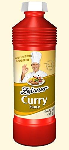 Zeisner Curry-Sauce mit erlesenen Gewürzen süßlich scharf, ohne künstliche Aromastoffe, 425 ml