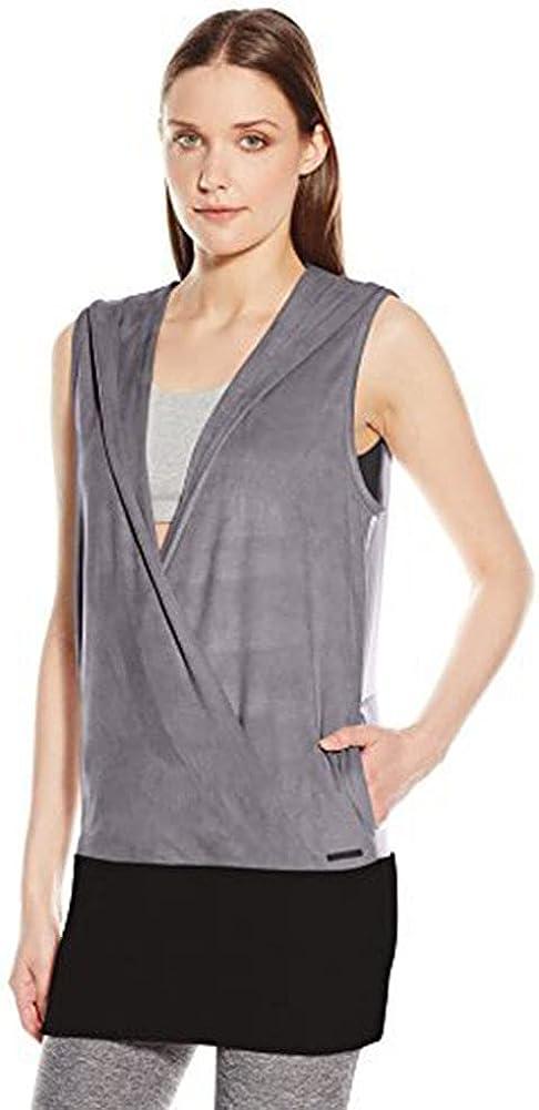 Blanc Noir Women's Wrap Hoodie Vest