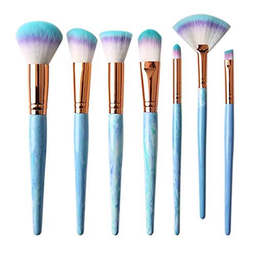 GBY Lot de 7 pinceaux de maquillage en marbre pour fard à paupières, sourcils, sourcils, eyeliner, Fibre synthétique., 02, Free