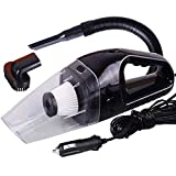 XLAHD Portable 12V Handheld High Power Car Vacuum Cleaner, Carpet Cleaner For Car 120W 4000Pa With Cigarette Plug Cleaning Pet Hair, Soot, Brea