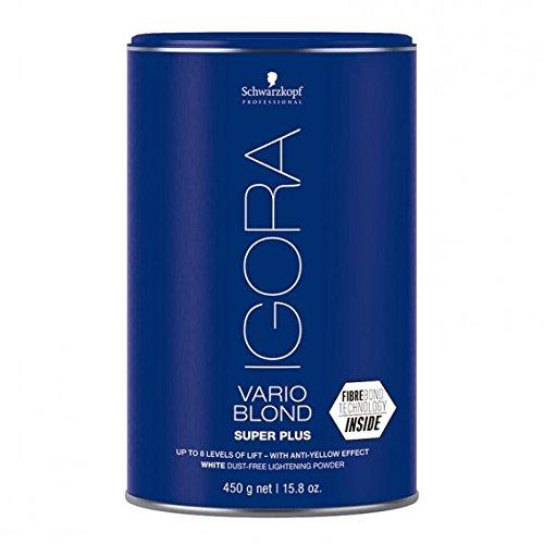 Schwarzkopf Igora Vario Blond Extra Power-White Staubfreies Bleichmittel bis zu 8 Stufen Lifting-Lift Anti-Vergilbung, 450 g