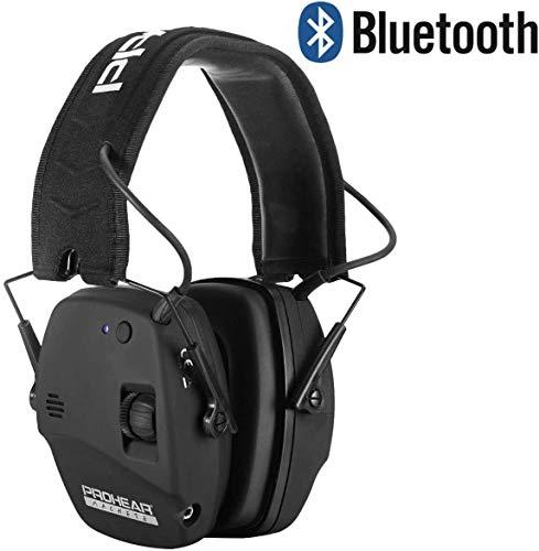 PROHEAR 030 Electronischer Gehörschutz mit Bluetooth für Jagd Schißen, Lärmminderung Klangverstärkung Ohrenschützer mit Zweikanalsteuerung, SNR27dB