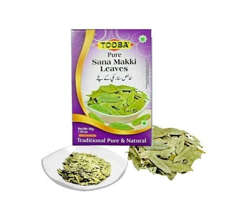 TOOBA Pure Sana Makki Leaves | Loose Tea|100% Pure & Natural |Packed in 30g Box