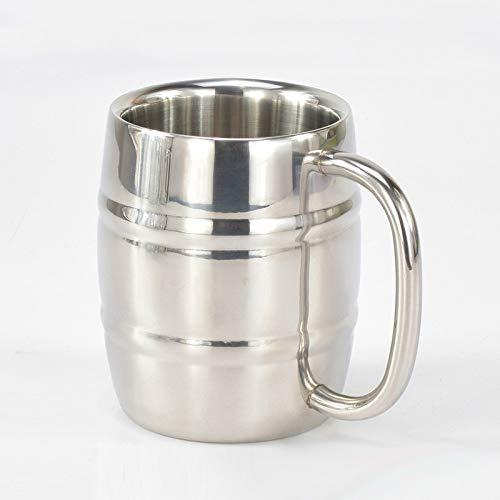 Kaffeetasse Beer Cup Edelstahl Outdoor-Camping-Tee-Schalen-Insulated bewegliches Wasser Cup Trinkgefäße mit Griff Gailingshangmaoyouxiangongsi