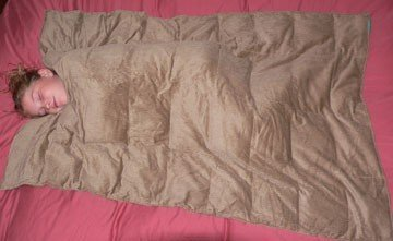 New Weighted Blanket Large Tan 16 lbs 54″ x 72″