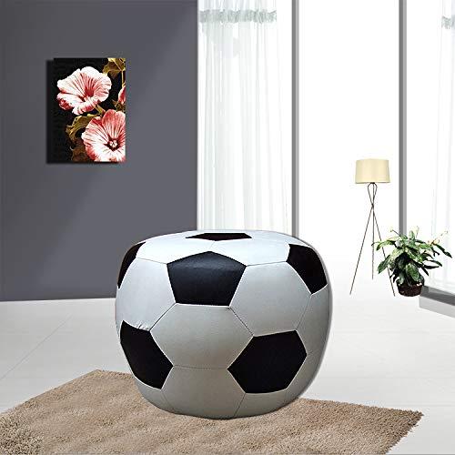 Htimer Fußball-Sofa Fußball-Stuhl Einzelner Stuhl Erwachsene Fußball-Lounge-Sessel Drehsofa Cartoon-Sofa, Fußballpedal