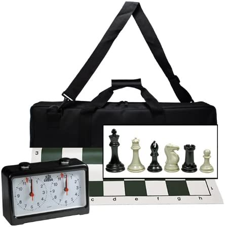 Complete Tournament Chess Set 公式通販 買い取り with C Deluxe Bag Canvas and