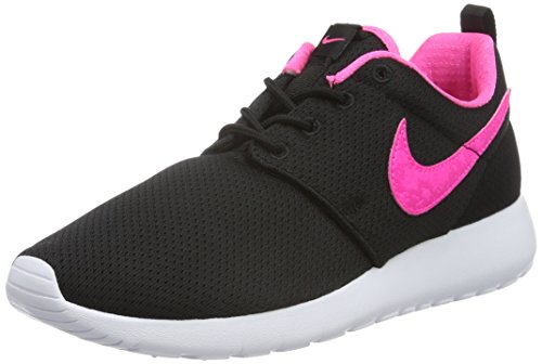 Nike Unisex-Kinder Roshe One (GS) Shoe Low-Top, Schwarz (014 Black/PINK Blast-White), 38 EU