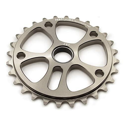 Leafcycles ® BMX & Dirtjumping Kettenblatt aus 7075-T6 Aluminium für 19 mm Achsen, 28 Zähne, grau