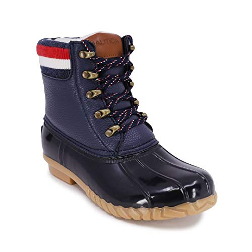 Nautica Womens Duck Boots - Waterproof Shell Insulated Snow Boot-Meloday-Navy-10
