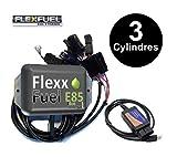 Kit Ethanol Flex Fuel - E85 - Bioethanol - 3 Cylindres + Interface de Diagnostic ELM327 - Compatible avec Renault, Peugeot, Citroen, Ford, BMW, Audi. (Bosch EV6)