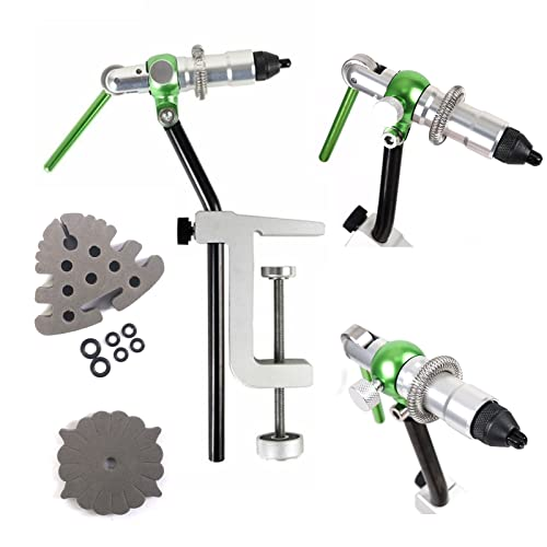 M MAXIMUMCATCH Maxcatch Rotary Fly Tying Vise Alloy Travel Vice (TVC Green Fly Vise)