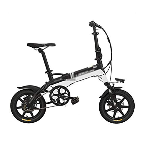 HLL Scooter, 14 Zoll Klapp Pedal Assist elektrisches Fahrrad, 36V 8.7Ah versteckte Lithium-Batterie, Aluminium...