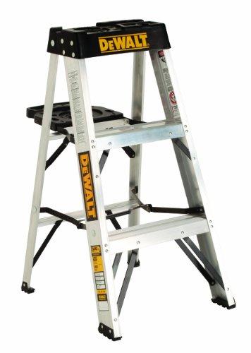 DeWalt DXL2010-03 Aluminum Step Ladder Type IA, 300-Pound Duty Rating, 3-Foot