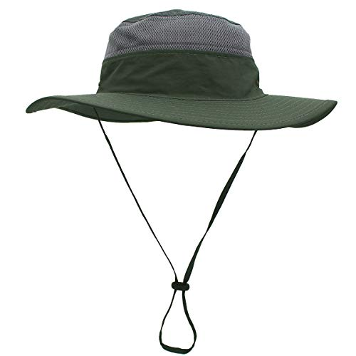 Easetech Sun Cap Fishing Hat for Men Women, UPF 50+ Sun Protection Wide Brim Hat, Boonie Hat for Outdoor Sports & Travel