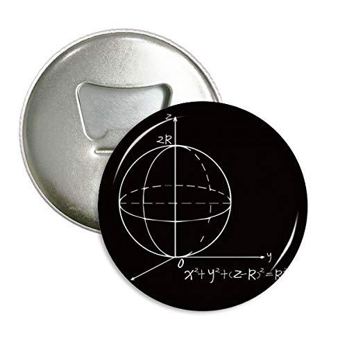 DIYthinker Math Kowledge Sphere vergelijking ronde fles opener koelkast magneet badge knop 3 stks gift