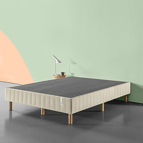 Zinus Justina Quick Snap Standing Mattress Foundation / Platform Bed / No Box Spring Needed / Beige, King