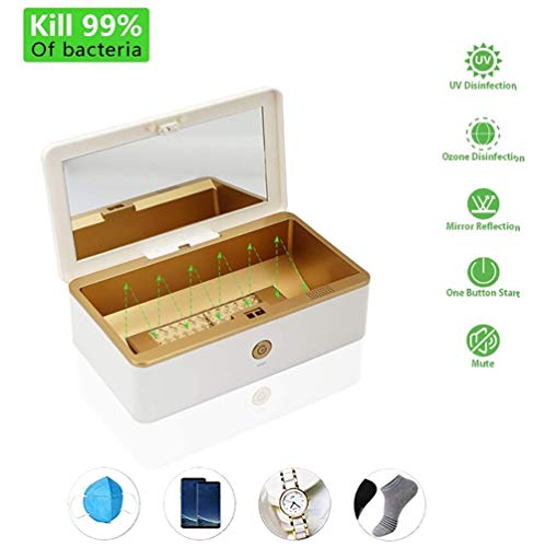 UV-sterilisatorbox, draagbare UV-ozon automatische desinfectiebox, voor telefoon, masker, sleutels, brief, make-upborstel, fopspeen, ondergoed
