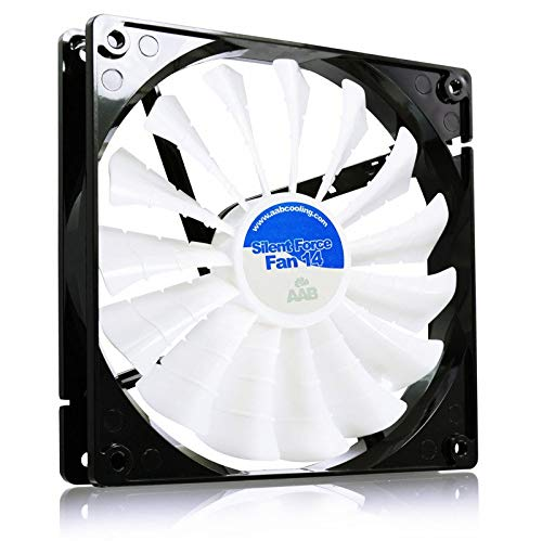 AABCOOLING Silent Force Fan 14 - Una Silenziosa e Molto Efficiente 140mm Ventola PC, Raffreddamento per Computer, Ventilatore 12V, Ventola Aspirazione, 14cm, 3 Pin Cooling Fan, 100m3/h 8,6 Db (A)