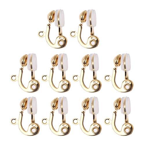 OKwife Convertitore di Orecchini a Clip da 10 Pezzi Cerchio per l'orecchio Non Forato con Cuscino per Orecchini Comfort